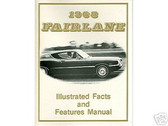 1968 68 FORD FAIRLANE FACTS & FEATURE MANUAL