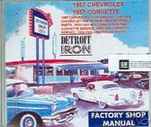 1957 CORVETTE SHOP/BODY /PARTS MANUAL ON CD