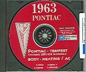 1963 PONTIAC TEMPEST SHOP/BODY MANUAL ON CD