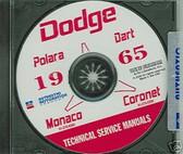 1965 DODGE DART/CORONET SHOP/BODY MANUAL ON CD