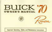 1970 BUICK RIVIERA OWNER'S MANUAL