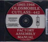 1965 66 67 68 CUTLASS/442 ASSEMBLY MANUAL ON CD