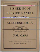1926-1932 CHEVROLET BODY REPAIR MANUAL
