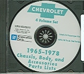 65 66 67 68 69 70 71 72 73 74 75 CHEVELLE/CAMARO PARTS CATALOG ON CD