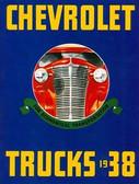 1938 CHEVROLET TRUCK SALES BROCHURE-FULL LINE-COLOR