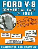 1937 FORD V-8 COMMERICAL CARS SALES BROCHURE-60 & 85 HP