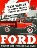1933 FORD TRUCKS & COMMERICAL CARS SALES BROCHURE-75 HP V-8 & 50 HP 4 CYLINDER