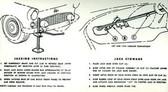 1955 56 FORD THUNDERBIRD JACK INSTRUCTION DECAL