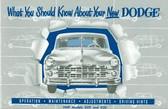 1949 DODGE PASSENGER CAR OWNER'S MANUAL