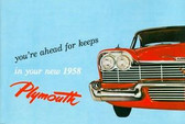 1958 PLYMOUTH PASSENGER CAR OWNER'S MANUAL