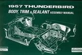1957 FORD THUNDERBIRD BODY/INTERIOR ASSEMBLY MANUAL