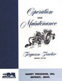 1948 49 50 51 52 FERGUSON TRACTOR OWNER'S MANUAL-TO-20