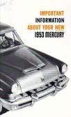 1953 MERCURY OWNERS MANUAL
