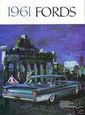 1961 FORD FAIRLANE/500-GALAXIE SALES BROCHURE
