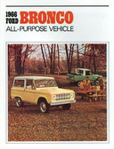 1966 FORD BRONCO SALES BROCHURE