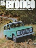 1967 FORD BRONCO SALES BROCHURE