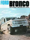 1968 FORD BRONCO SALES BROCHURE