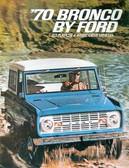 1970 FORD BRONCO SALES BROCHURE