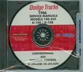 1966 DODGE TRUCK SHOP/BODY MANUAL ON CD