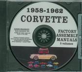 1958 59 60 61 62 CORVETTE ASSEMBLY MANUAL ON CD