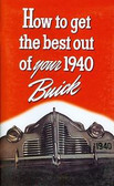 1940 BUICK OWNER'S MANUAL