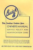 1950 51 52 53 54 55 56 57 58 59 60 BUICK OWNERS MANUAL COVER