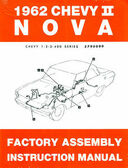 1962 NOVA/SS/CHEVY II FACTORY ASSEMBLY MANUAL