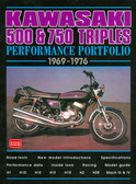 1969 70 71 72 73 74 75 76 KAWASAKI 500 &750 TRIPLES MUSCLE PORTFOLIO