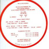 1968-69 AMX/JAVELIN TIRE PRESSURE DECAL