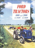 1963-64 FORD TRACTOR 2000 2-3 PLOW/4000 3-4 PLOW SALES BROCHURE-24 PAGES