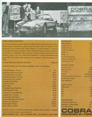 "1963 SHELBY COBRA SPORTS ROADSTER ""289"" 2-COLOR SALES BROCHURE"