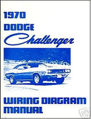 1970 70 DODGE CHALLENGER/RT WIRING DIAGRAM MANUAL