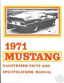 1971 71 MUSTANG/MACH 1-BOSS 351 ILLUSTRATED FACTS