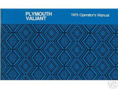 1975 75 PLYMOUTH VALIANT OWNER'S MANUAL
