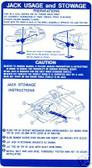 71 72 73 74 FIREBIRD/TRANS AM JACK INSTRUCTION DECAL