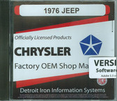 1976 JEEP SHOP/BODY MANUAL ON CD-COVERS ALL MODELS