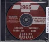 1965 CHEVELLE/CHEVY II SHOP/BODY REPAIR MANUAL ON CD