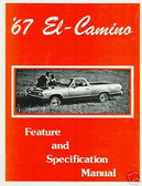 1967 EL CAMINO/CUSTOM 396 ILLUSTRATED FACTS MANUAL - DAMAGED IN TRANSIT