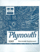 1967 PLYMOUTH BARRACUDA SHOP MANUAL SUPPLEMENT