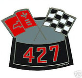 427 CAMARO/CHEVELLE CROSS FLAG AIR CLEANER DECAL