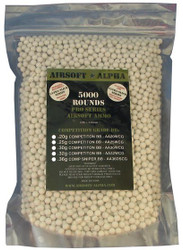 Airsoft Alpha Competition Grade BB .20 Gram 5000 Count Bag