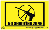Mighty Field Safety Sign No Shooting