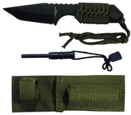 Hunting Knife 440 Steel Green Rope KHK6320