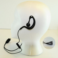 Klutch Radio Ear Hook Earphone Deluxe Headset