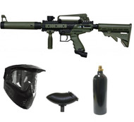 Tippmann Cronus Tactical Paintball Gun Package Set - Olive