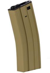 Valken Airsoft 300 Round M4 Hi-Cap Metal Magazine Tan