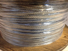 "Stainless Steel Rope Wire 1/8"" 7x7 GAC SS RTU 500 Feet"
