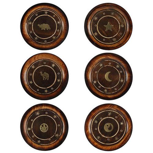 Mango Wood Round Plate Incense Holder