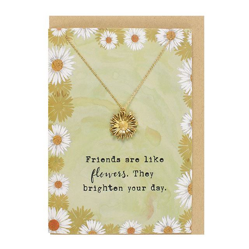 Friends are like Flowers Necklace and Card Set