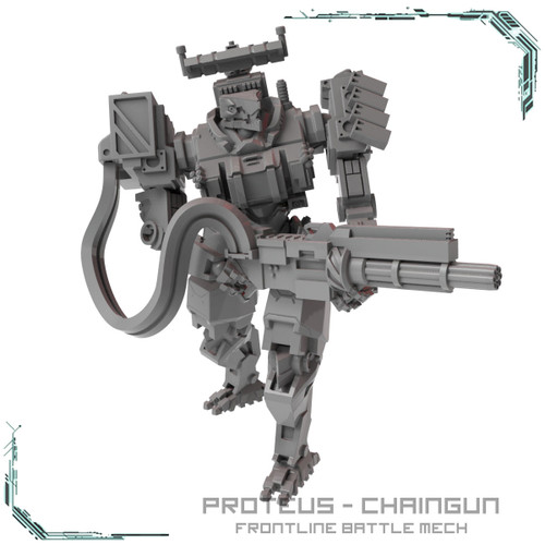 Proteus Frontline Battle Mech Chaingun